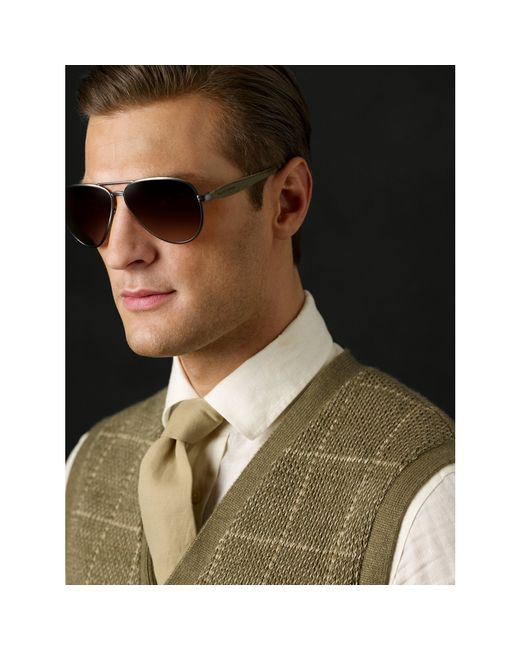 Pink Pony | Brown Safari Pilot Sunglasses for Men | Lyst