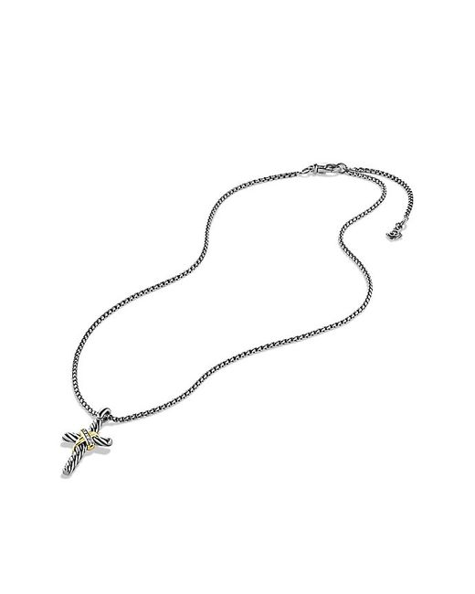 David Yurman | Metallic Cable Collectibles X Cross Necklace With Diamonds And 14k Gold | Lyst