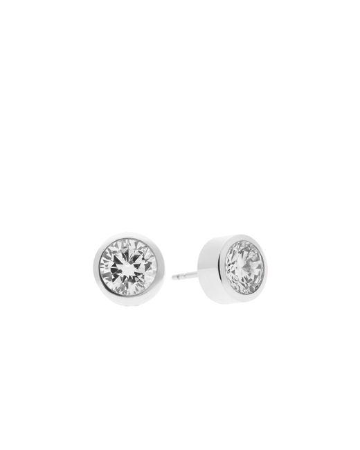 Michael Kors | Metallic Cubic Zirconia Silver-tone Stud Earrings | Lyst