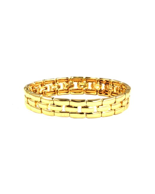 Anne Klein | Metallic Gold Tone Linked Stretch Bracelet | Lyst