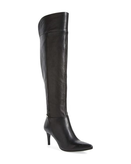 Calvin Klein | Black 'clancey' Over The Knee Boot | Lyst