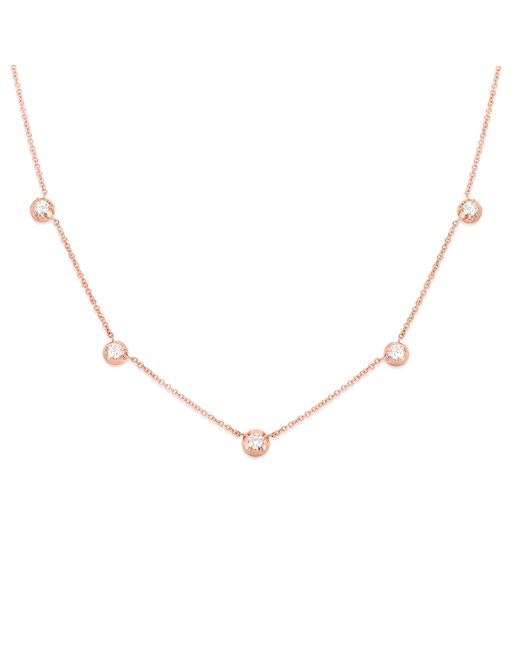 Carbon & Hyde | Pink Rose Necklace | Lyst
