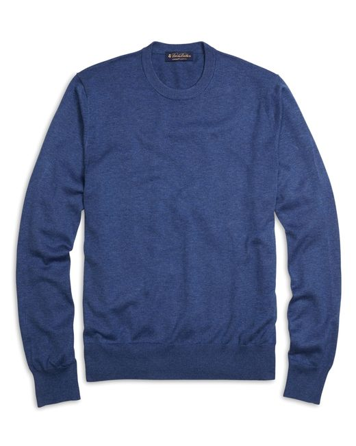 Brooks Brothers | Blue Supima® Cotton Crewneck Sweater for Men | Lyst