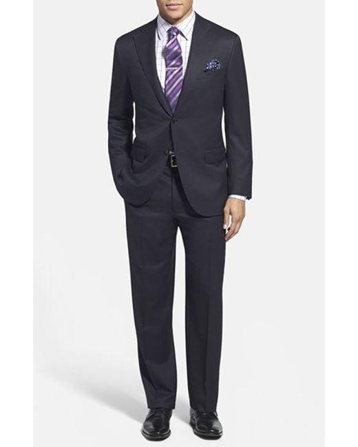 Corneliani | Blue Trim Fit Wool Suit for Men | Lyst