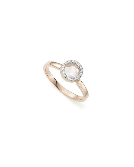 Monica Vinader | Pink Naida Mini Circle Ring | Lyst