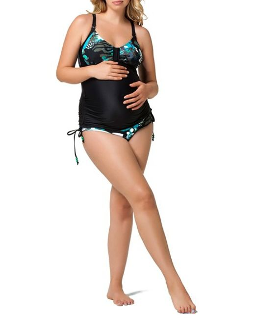 Maternity swimsuits come in all different types and styles, just like regular swimsuits. Popular styles are: One Piece: This is the standard swimsuit, but with more .