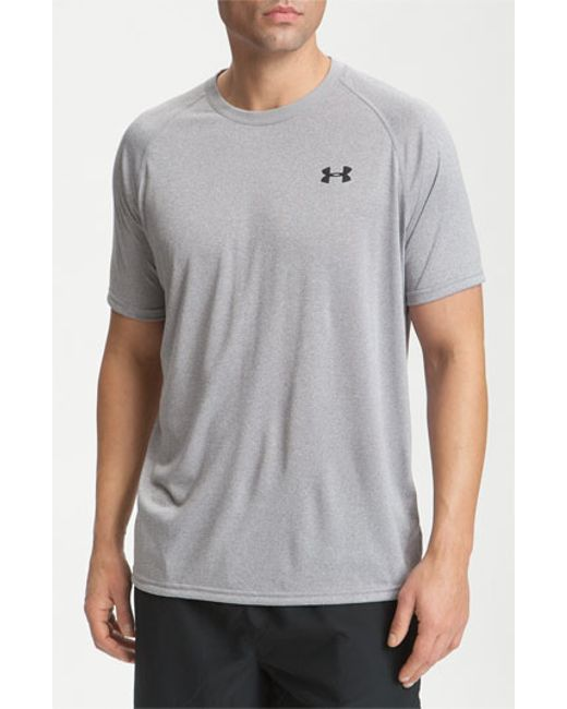 Under Armour | Gray 'ua Tech' Loose Fit Short Sleeve T-shirt for Men | Lyst