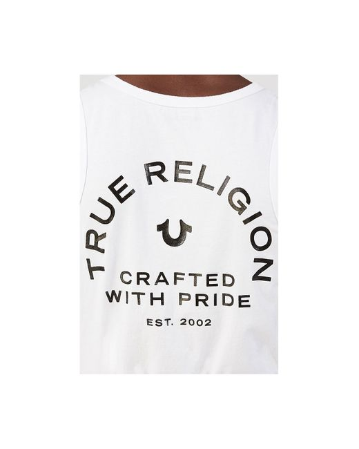 True Religion | White Crafted Pride Mens Tank for Men | Lyst