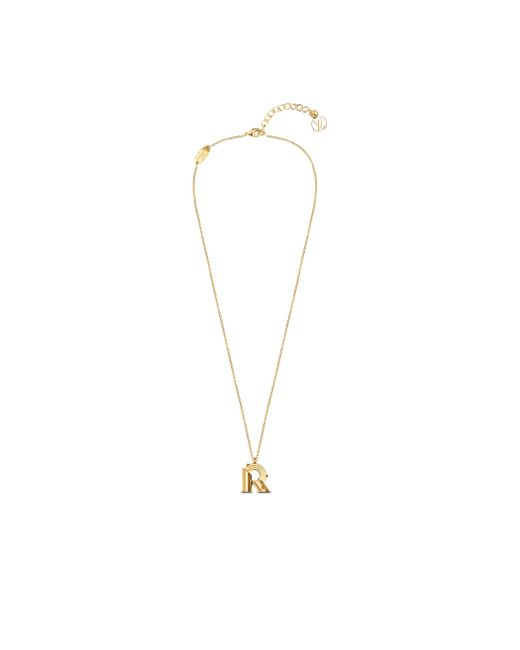 Louis vuitton lv me necklace letter r in gold lyst for Louis vuitton letter necklace