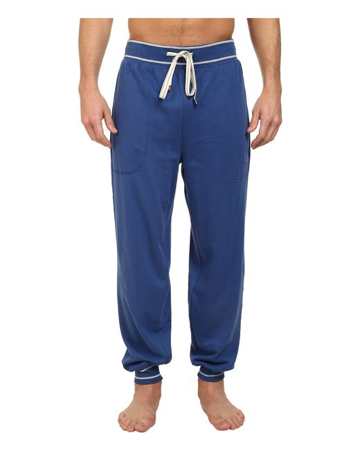 Original Penguin | Blue Cuffed French Terry Pant for Men | Lyst