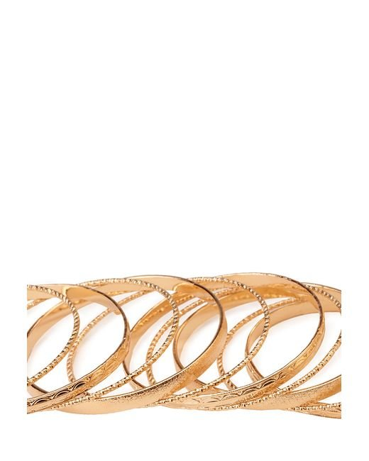 Forever 21 | Metallic Bold Frosted Bangle Set | Lyst