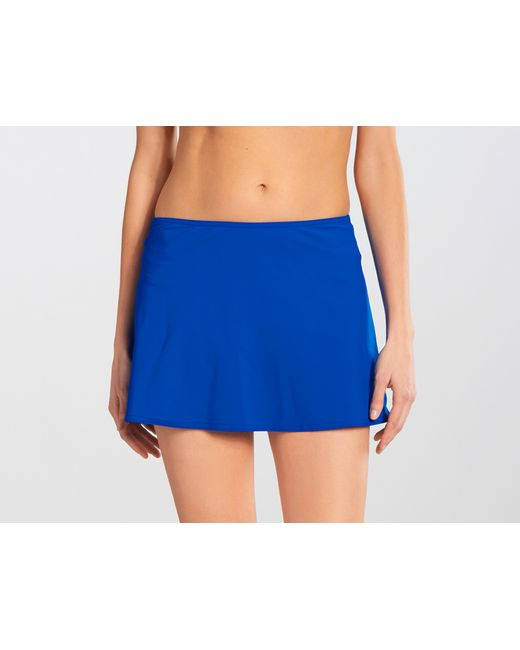 karla colletto basic a line skirt in blue cobalt lyst