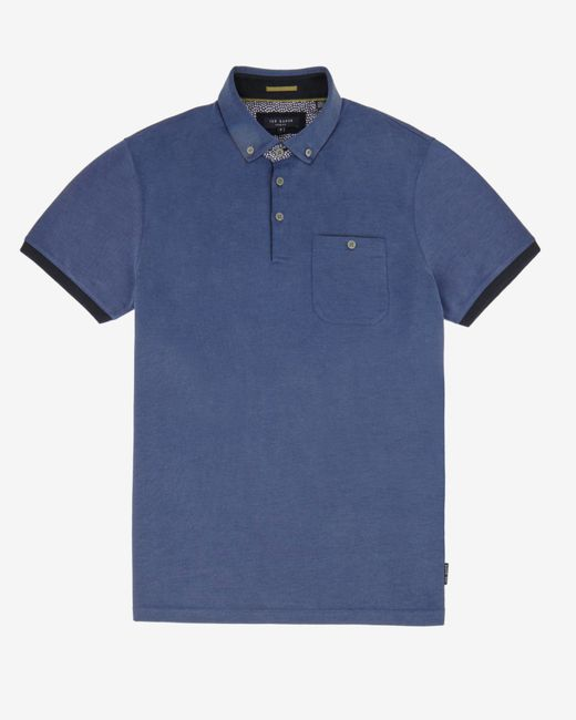 Ted Baker   Blue Contrast Trim Polo Shirt for Men   Lyst