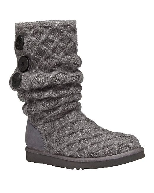 Ugg | Black ® Classic Cardy Button Detailed Knit Boots | Lyst