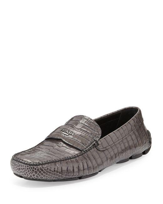 Womens Faux Crocodile Shoes Lace Up