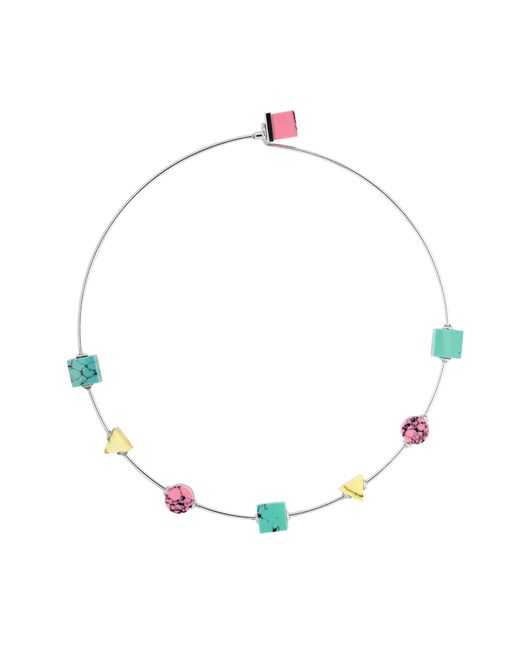 Eshvi | Multicolor Back To School Marble Thin Choker Necklace | Lyst