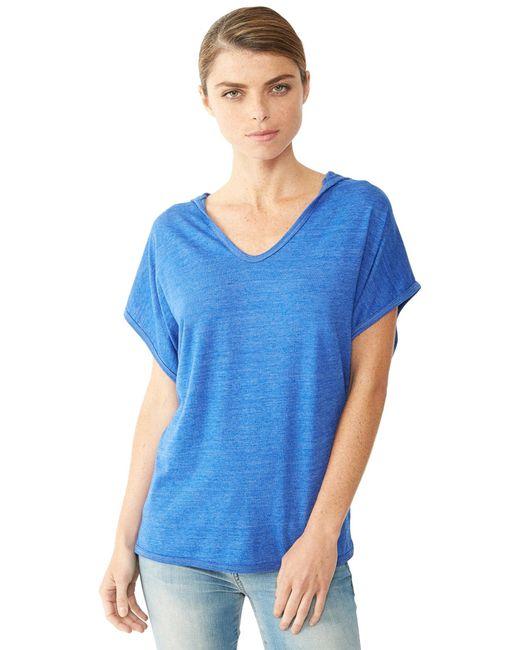 Alternative Apparel | Blue Sleeveless Eco-jersey Poncho | Lyst