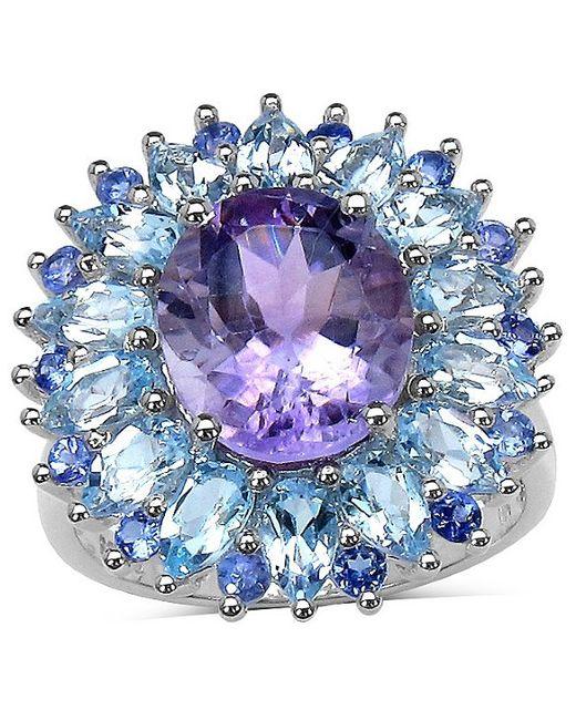 Lavender Tanzanite: Palmbeach Jewelry 8.17 Amethyst, Blue Topaz And Tanzanite