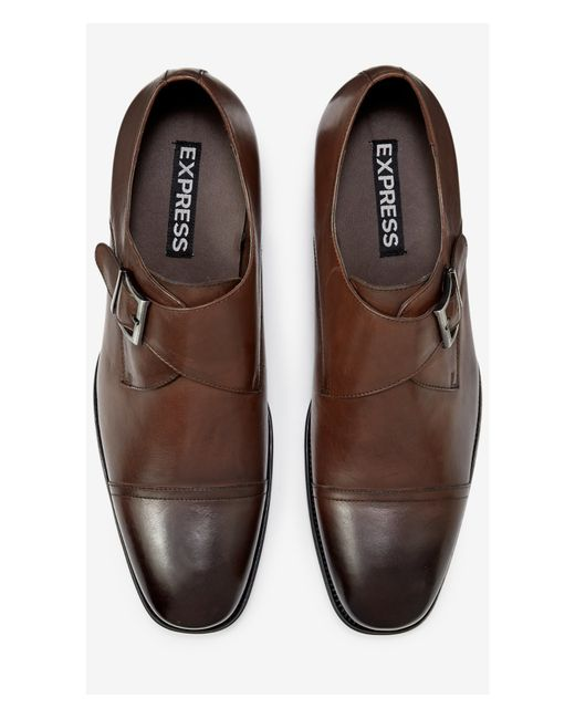 express single monk dress shoe in brown for lyst