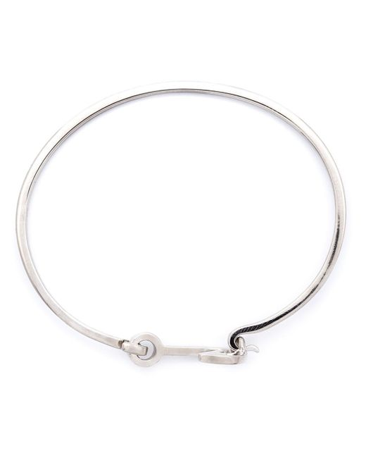 Miansai | Metallic Silver Mini Anchor Hook Bangle | Lyst