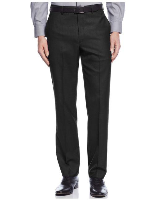 Calvin Klein   Black Solid Slim-fit Dress Pants for Men   Lyst