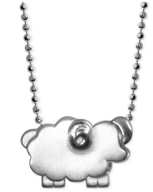 Alex Woo | Metallic Little Sheep Zodiac Pendant Necklace In Sterling Silver | Lyst