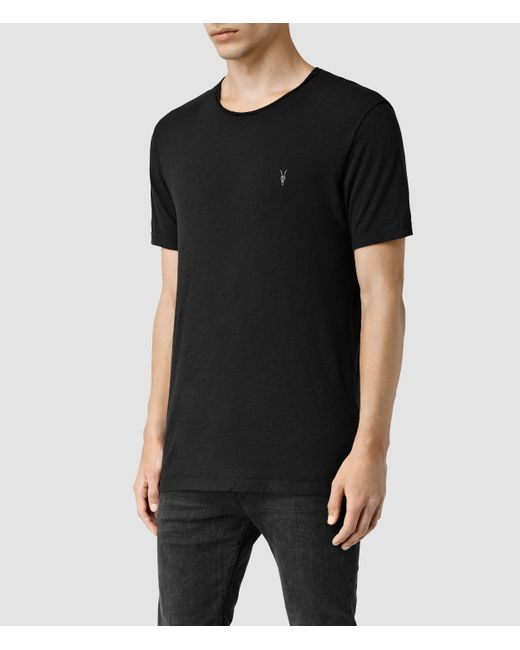 AllSaints | Black Henning Crew T-shirt for Men | Lyst