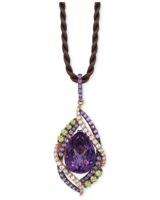 Le Vian | Purple Crazies Collection Multi-stone Pendant Necklace (14 Ct. T.w.) In 14k Rose Gold, Only At Macy's | Lyst