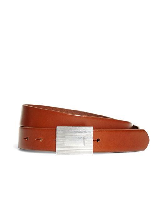Brooks Brothers | Brown Plaque Buckle Belt for Men | Lyst