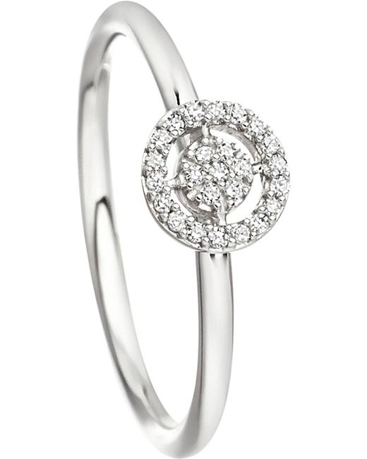 Astley Clarke | Mini Icon Aura 14ct White-gold And Diamond Ring | Lyst