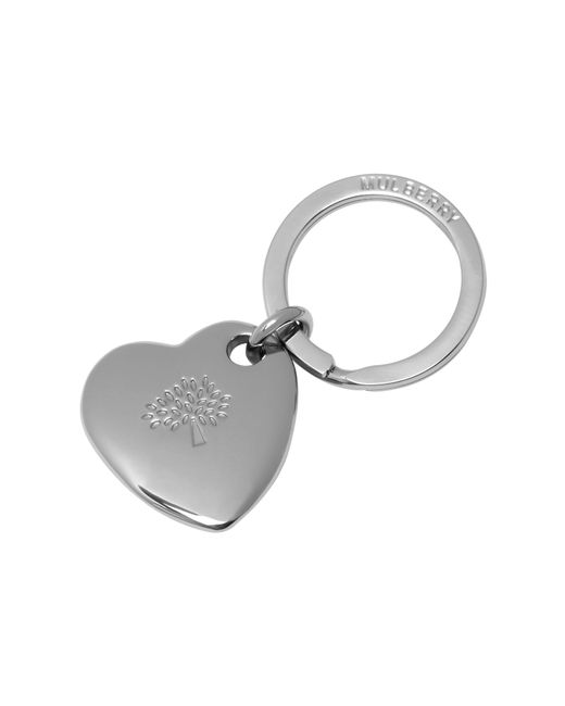 Mulberry | Metallic Heart Keyring | Lyst