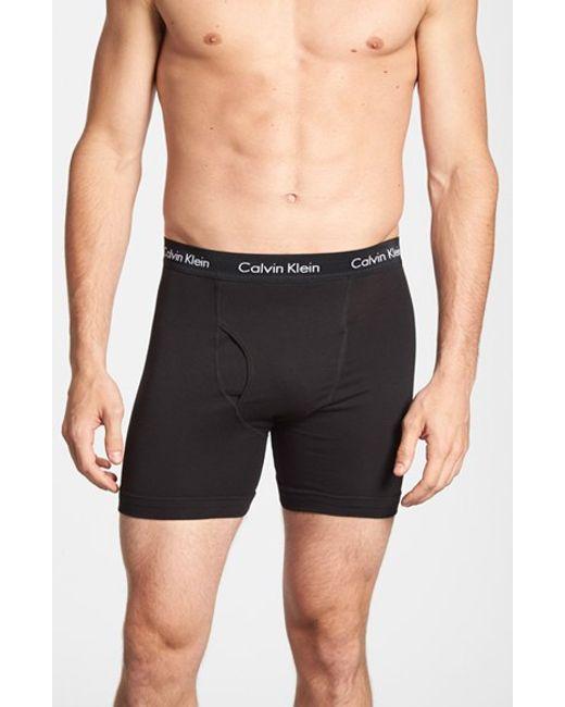 Calvin Klein | 3-pack Boxer Briefs, Black for Men | Lyst