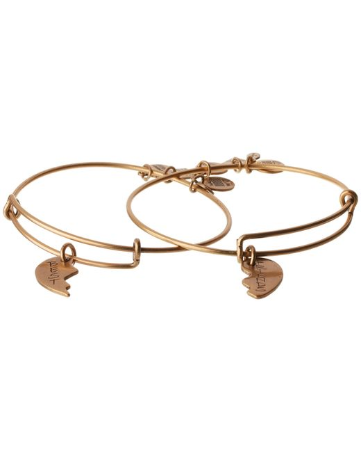 ALEX AND ANI | Metallic Best Friends Set Of 2 Charm Bangle | Lyst