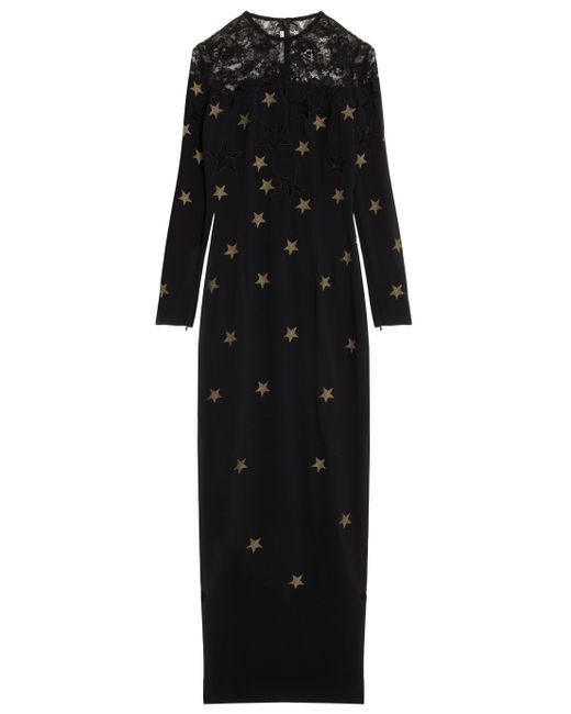 Alessandra Rich | Black Long Dress | Lyst