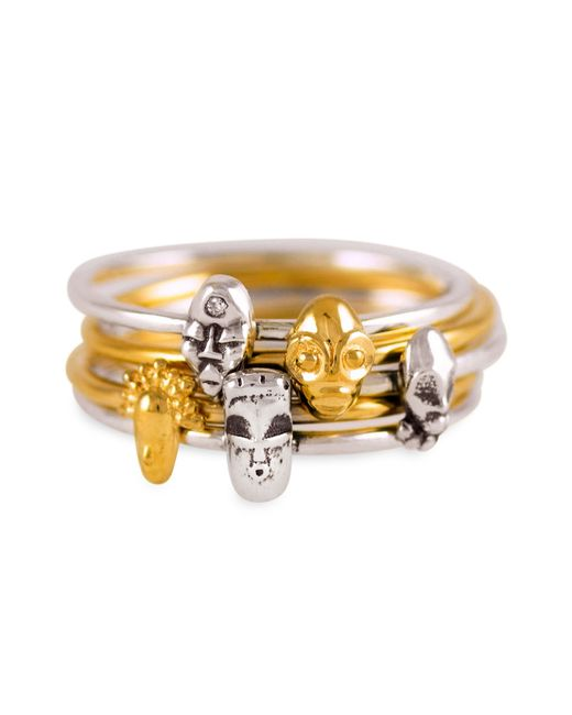 Lee Renee | Metallic Tiny Voodoo Damballah Ring Silver | Lyst