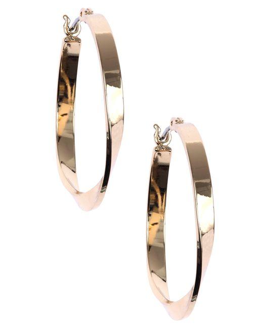 Nine West   Metallic Classic Gold Hoop Earrings   Lyst