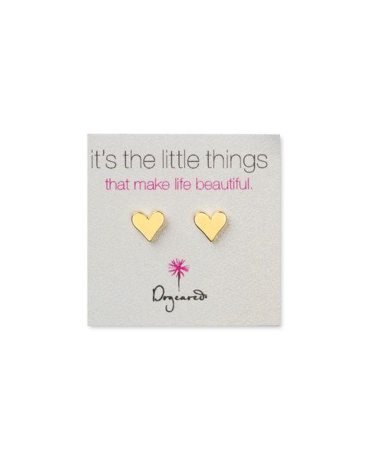 Dogeared | Metallic Flat Heart Earrings | Lyst