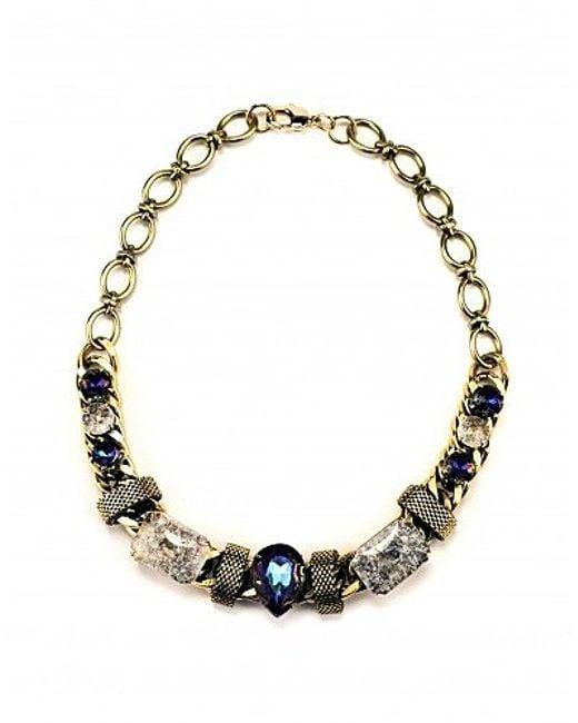 Nicole Romano | Metallic Fiore Necklace | Lyst