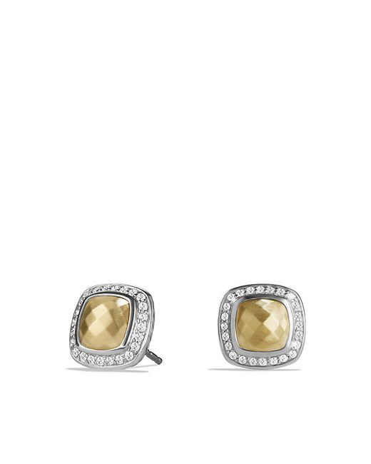 David Yurman | Metallic Albion Earring With Diamonds And 18k Gold | Lyst