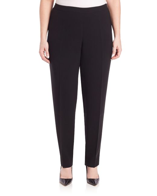 Lafayette 148 New York | Black Finesse Crepe Bleecker Pants | Lyst