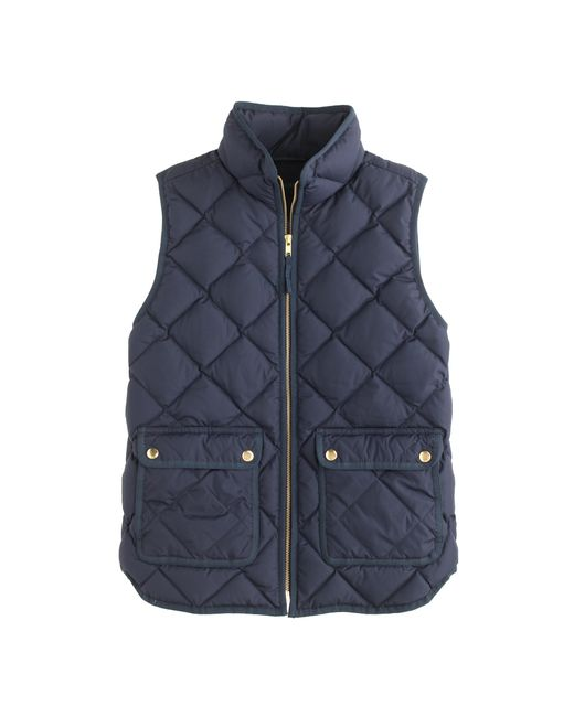 J.Crew | Blue Excursion Quilted Down Vest | Lyst
