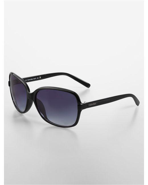 Calvin Klein Black Frame Glasses : Calvin Klein Black White Label Oversized Square Frame ...