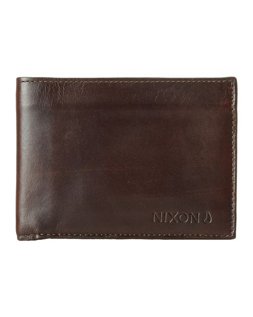 Nixon | Brown Legacy Bi-Fold Wallet for Men | Lyst