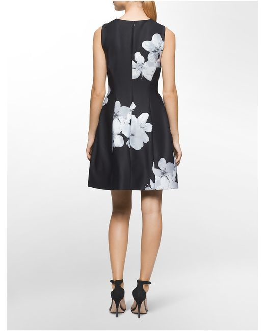 Calvin Klein White Label Exploded Floral Print Sleeveless