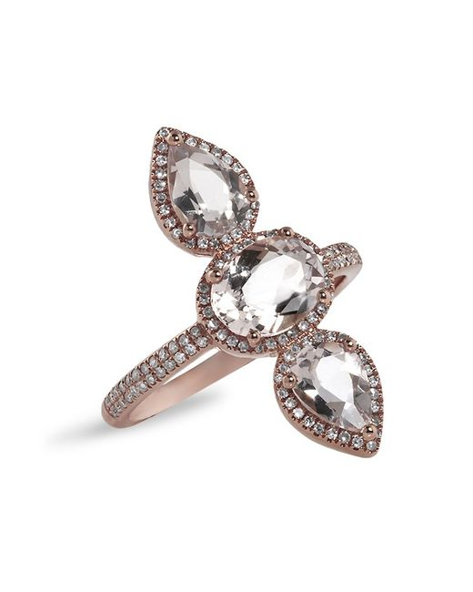 Anne Sisteron - Metallic 14kt Rose Gold Morganite Diamond Ring - Lyst