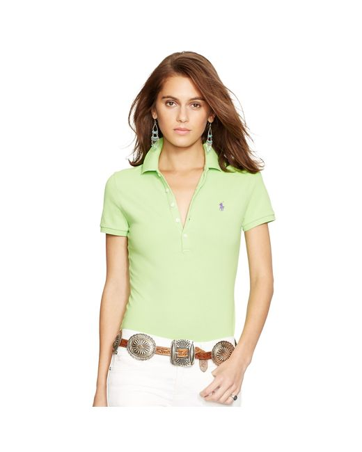 Polo Ralph Lauren | Green Skinny-fit Stretch Polo Shirt | Lyst