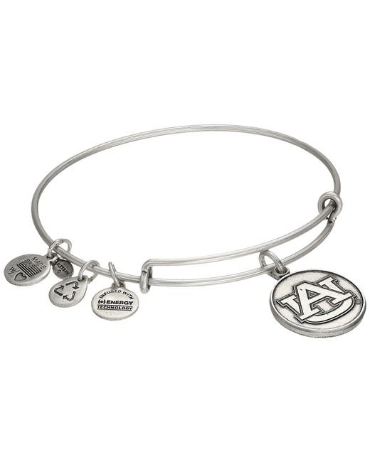 ALEX AND ANI | Metallic Auburn University® Logo Charm Bangle | Lyst