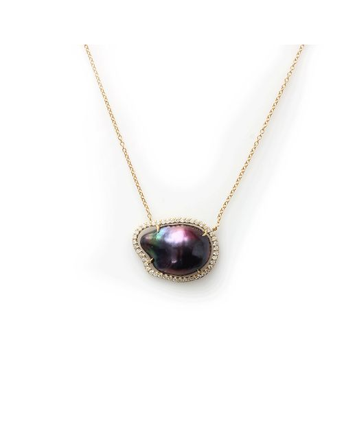 Jordan Alexander | Blue Navy Fresh Water Baroque Pearl Necklace | Lyst