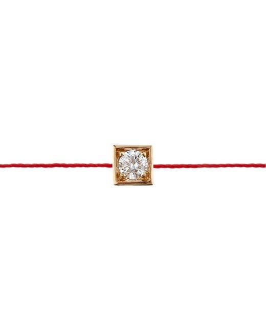 RedLine | Red Yellow Gold Cube Bracelet | Lyst