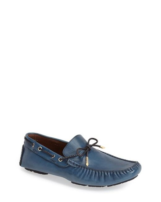 Bacco Bucci   Blue 'istria' Driving Loafer for Men   Lyst